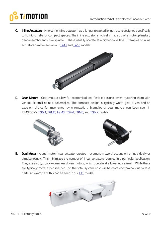 Introduction and Styles of Actuators