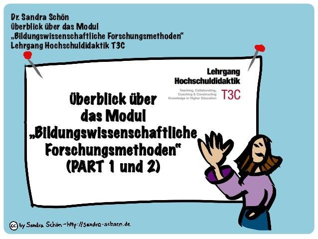Dr. Sandra Schön  Überblick über das Modul