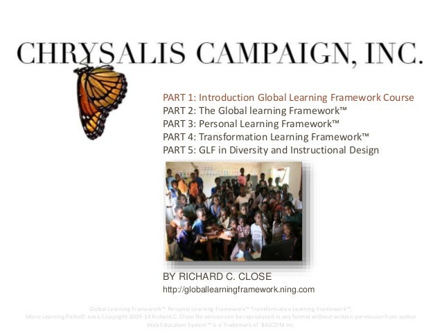 PART 1: IPnAtRroTd 2u:c TtiHoEn GGLloObBaAl LL eLEaArnRiNngIN FGra FmReAwMoErWk COoRuKr™se  PART 2: The Global learning Fr...