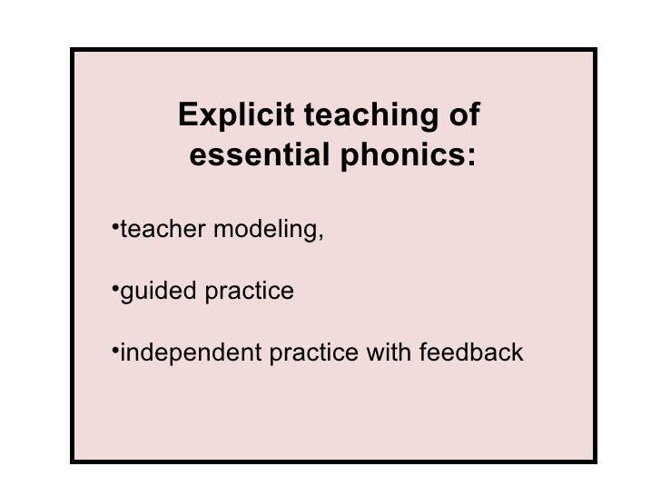 Phonics Instructional Strategies Part 1
