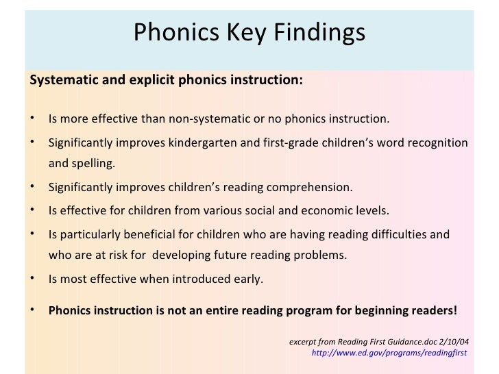 Phonics Instructional Strategies Part 1