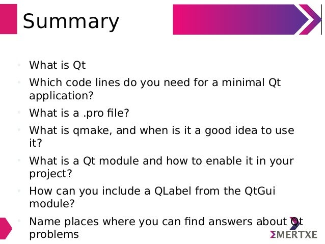 Qt Application Programming with C++ - Part 1