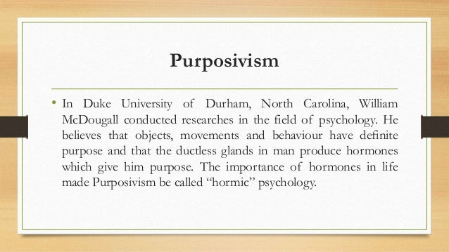 purposivism psychology Best answer: purposivism is defined as: 1the science that deals with mental processes and behavior 2the emotional and behavioral characteristics of an individual, group, or activity: the psychology of war.