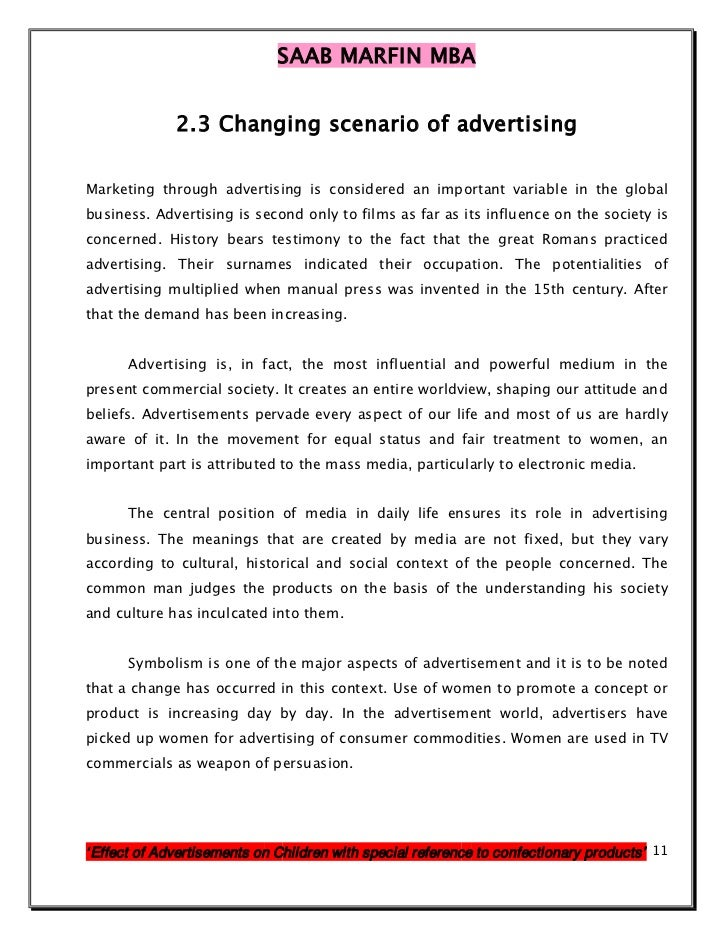 effect of advertisements on our life Hoover himself delivered an address to the associated advertising clubs of the world in 1925 called 'advertising is a vital force in our national life which could have an effect on how they interpret advertising [need quotation advertisements in schools advertising campaign.