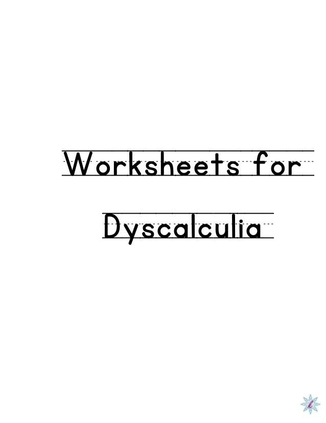 Worksheets for Dyscalculia