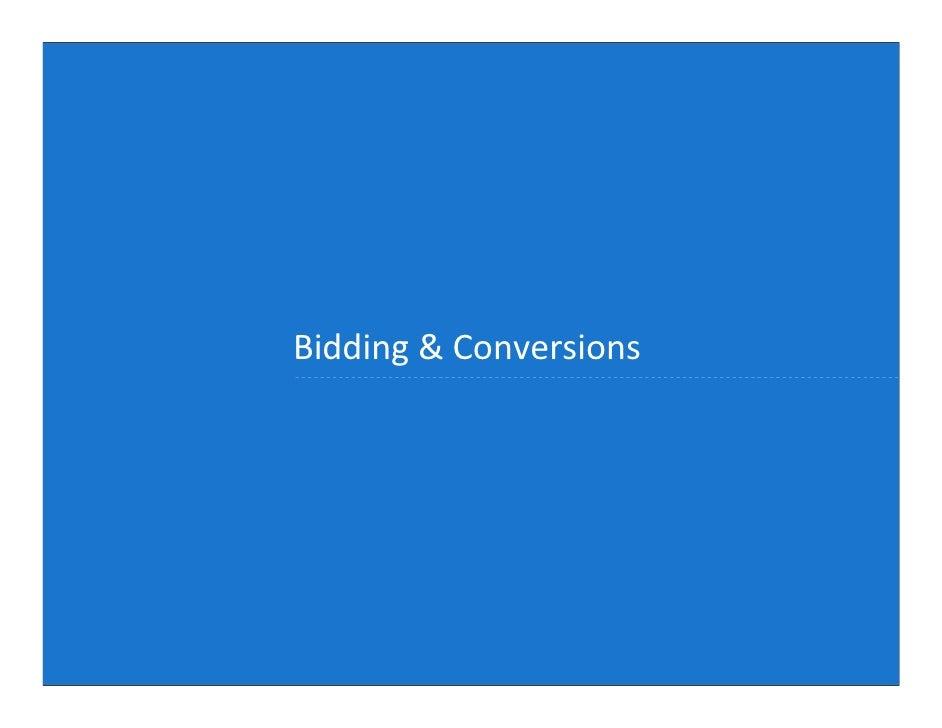 Bidding & Conversions