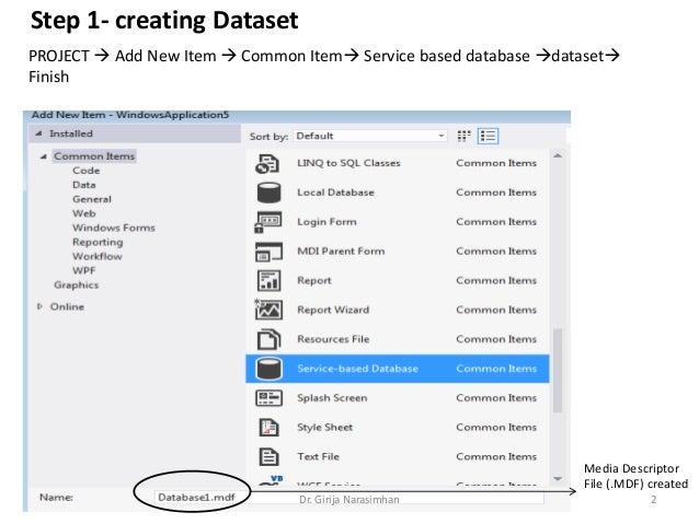 Part2 database connection service based using vb net