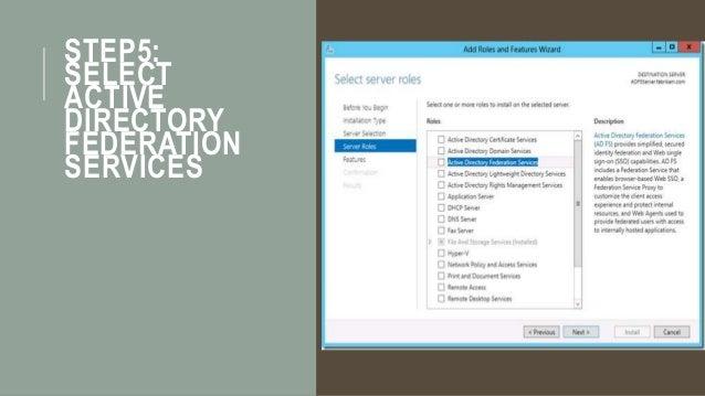 Part 2 - Setup ADFS (Active Directory Federation Service)