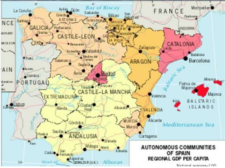 Map Of Spain Near Barcelona.Part 2 Spain Eu Course Summer 2011