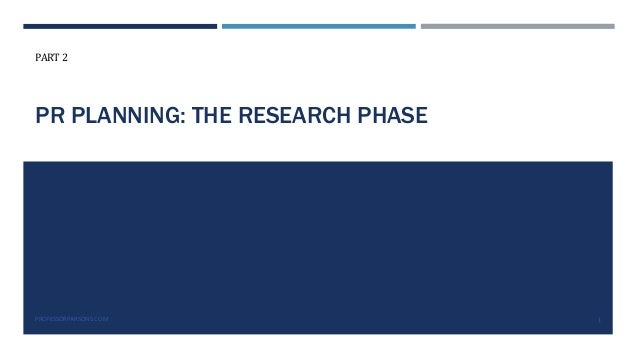 Public Relations Planning Course Part 2: The research phase Slide 2