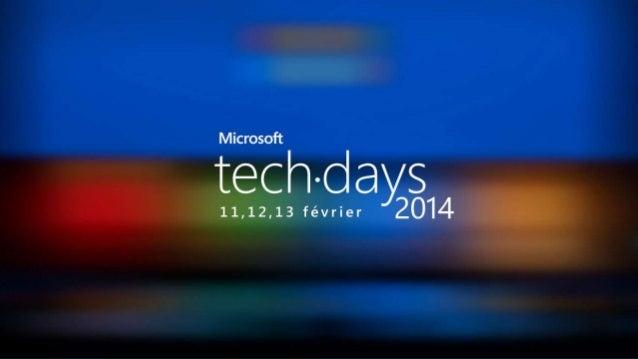 26/02/2014  Décideurs informatiques | Métiers #mstechdays  1
