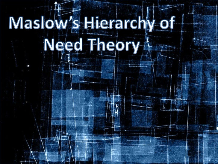 maslow critic Maslow's hierarchy of needs - criticisms criticisms in their extensive review of research based on maslow's theory, wahba and brudwell found little evidence for the ranking of needs that maslow described or for the existence of a definite hierarchy at all.