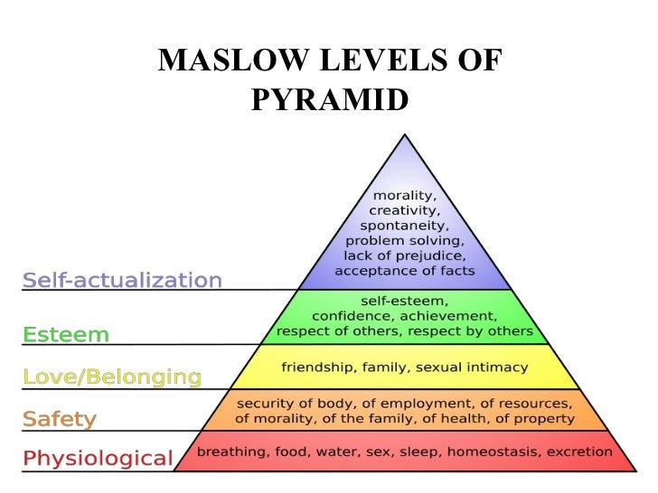 maslows hierarchy of needs model business essay Using abraham maslow's hierarchy of human needs,  to understand this model of project needs,  the hierarchy of needs for project organizations tells us what.