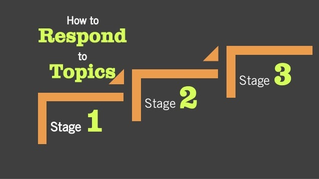 How to Respond to Topics Stage 1 Stage 2 Stage 3