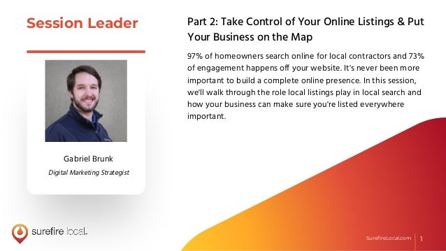 Part 2: Take Control of Your Online Listings