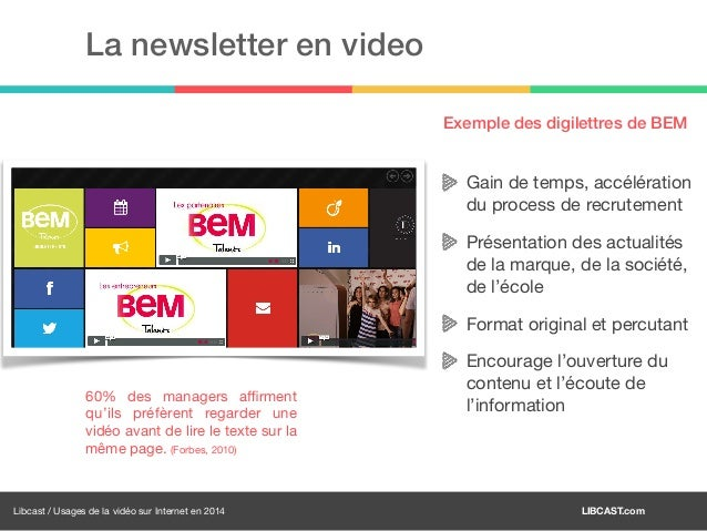 usages de la vid u00e9o sur internet en 2014