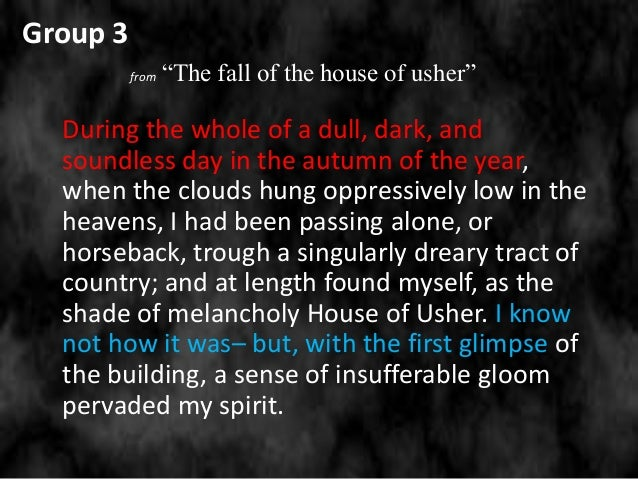 irony in the fall of the house of usher