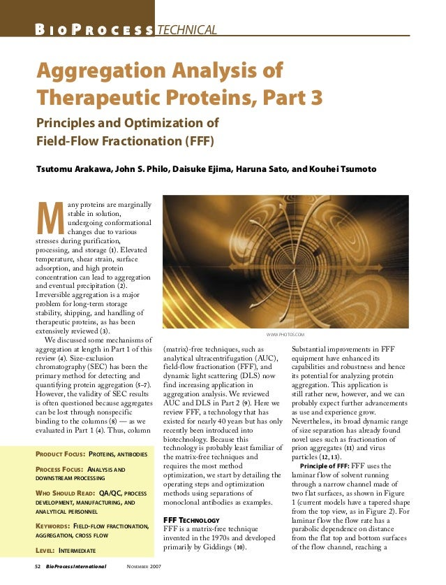 52 BioProcess International NOVEMBER 2007 B I O P R O C E S S TECHNICAL Aggregation Analysis of Therapeutic Proteins, Part...
