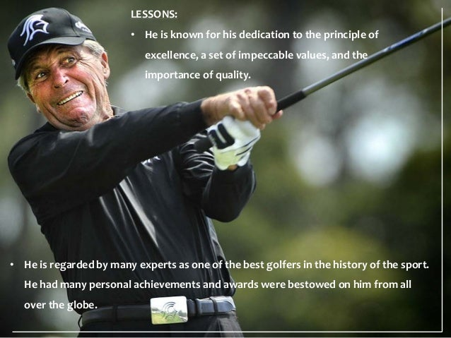 Inspirational Golf Quotes Custom Gary Player Motivational Thoughts And Quotes.