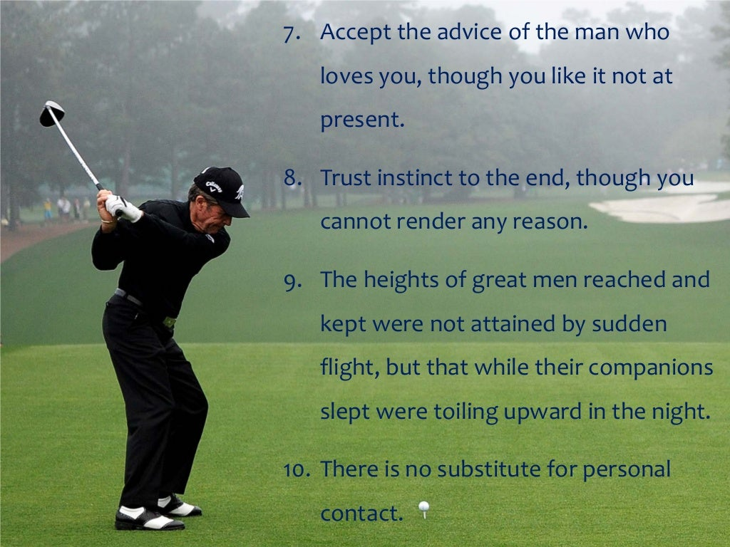 Famous Golf Quotes Gary Player Motivational Thoughts And Quotes.