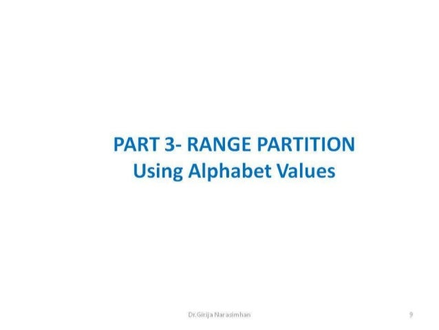 Part3 range partition alphabet
