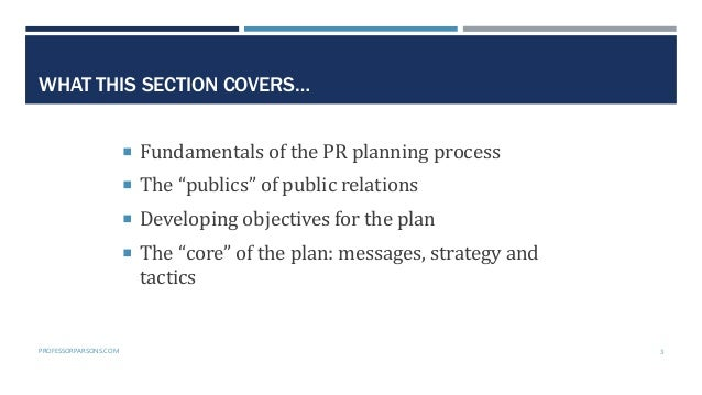 Public Relations Planning Course Part 3: The planning phase Slide 3