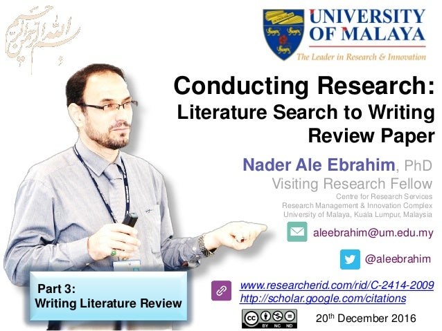 aleebrahim@um.edu.my @aleebrahim www.researcherid.com/rid/C-2414-2009 http://scholar.google.com/citations Nader Ale Ebrahi...