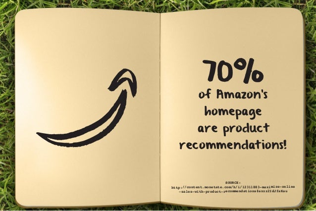 70% of Amazon's  homepage  are product  recommendations!  SOURCE:  http://content.monetate.com/h/i/12311883-maximize-onlin...