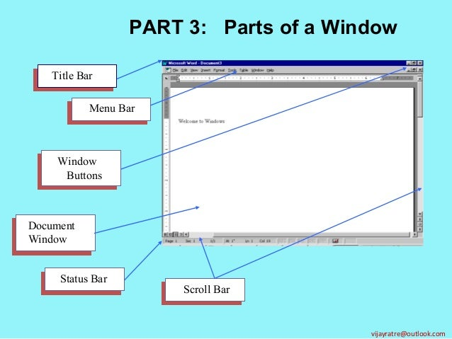 Parts Of A Window : Part elements of windows