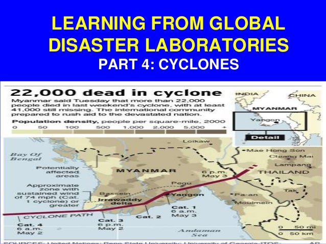 LEARNING FROM GLOBAL DISASTER LABORATORIES PART 4: CYCLONES