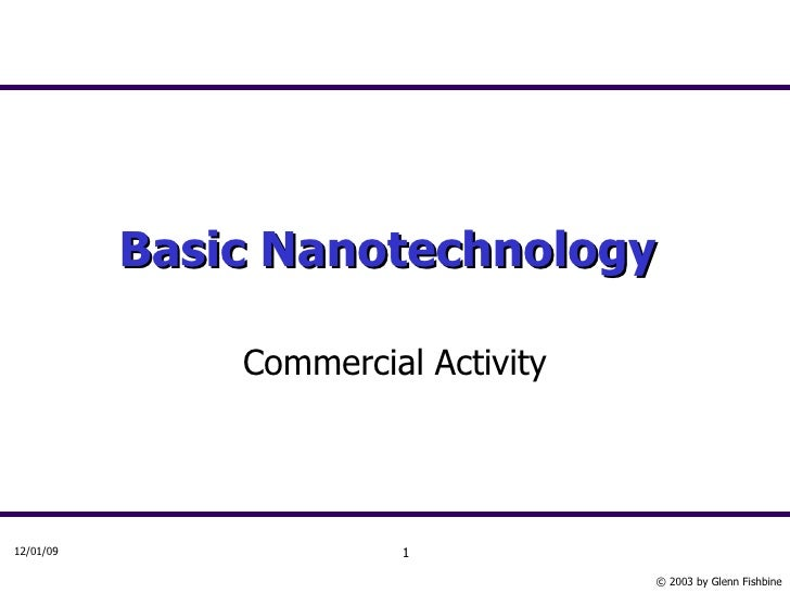 Basic Nanotechnology   Commercial Activity