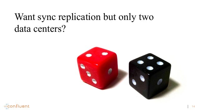 14 Want sync replication but only two data centers?