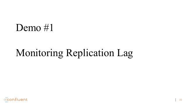 20 Demo #1 Monitoring Replication Lag