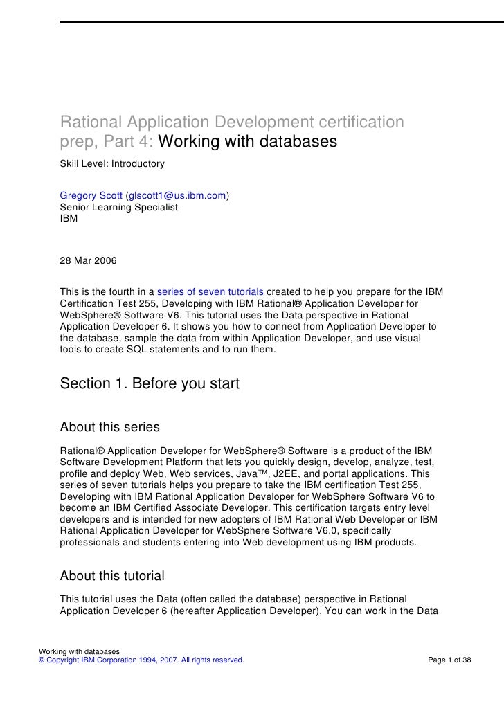 Part 4 working with databases