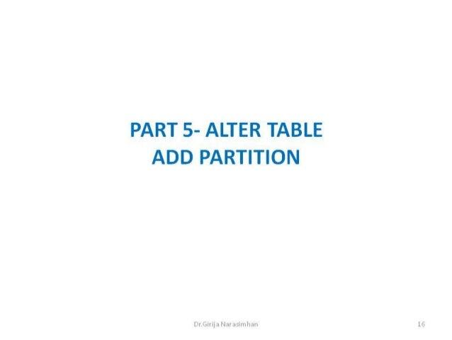 Part 5 add partition