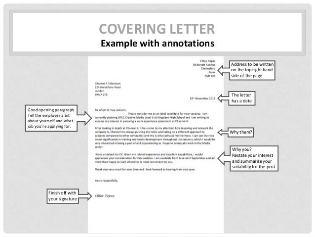 covering letter - Film Production Cover Letter