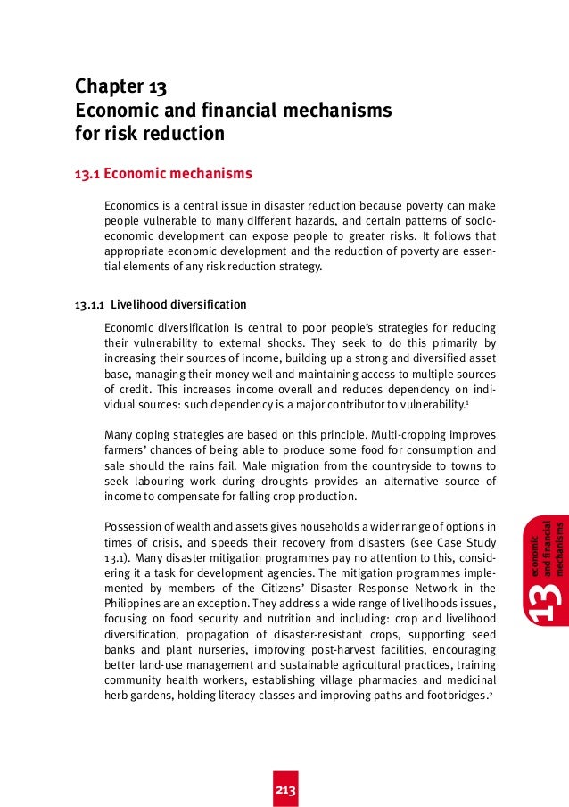 Good Practice 4th  8/3/04  2:44 pm  Page 213  Chapter 13 Economic and financial mechanisms for risk reduction 13.1 Economi...