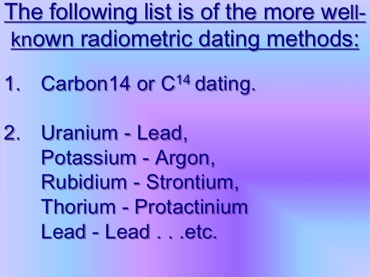 Lead isotope dating geology 5