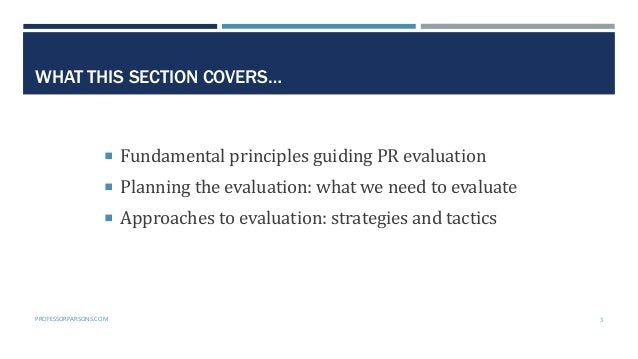 Public Relations Planning Course Part 5: The evaluation phase Slide 3