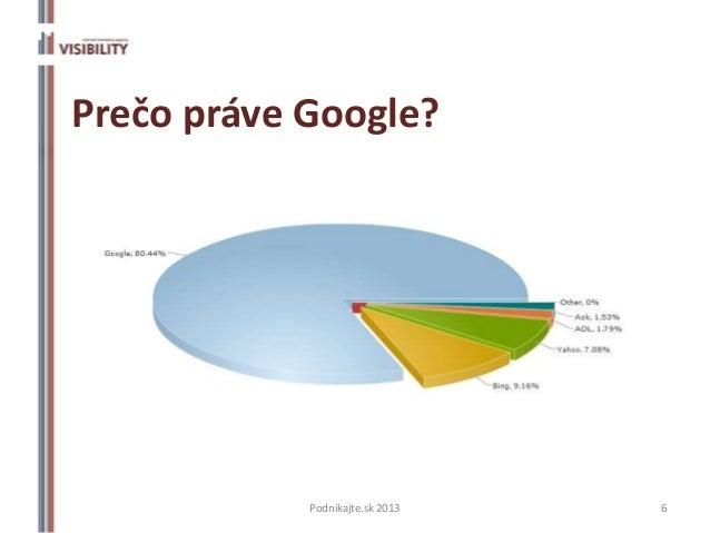 Prečo práve Google?            Podnikajte.sk 2013   6