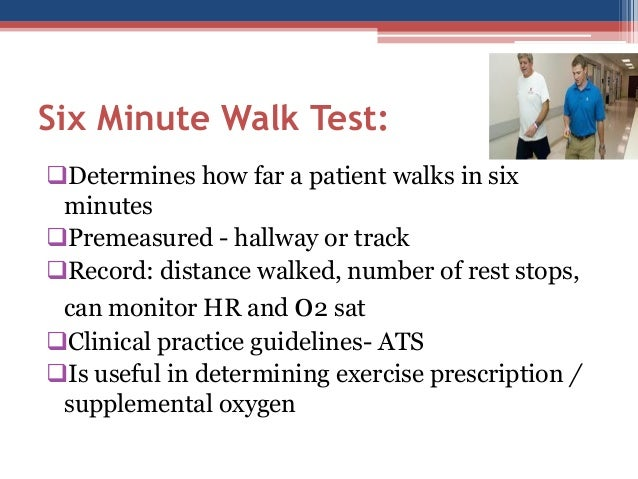 ats guidelines for 6 minute walk test