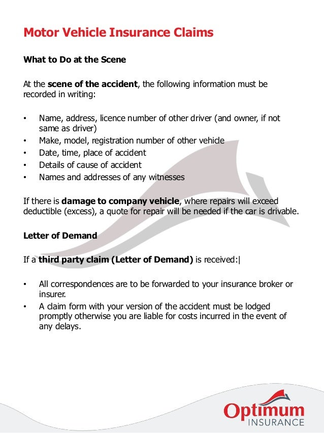 Part 7 claims procedure guide - motor vehicle insurance