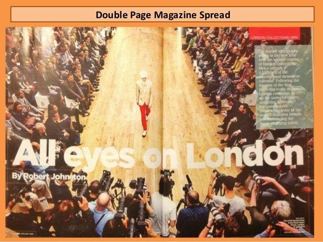 Double Page Magazine Spread