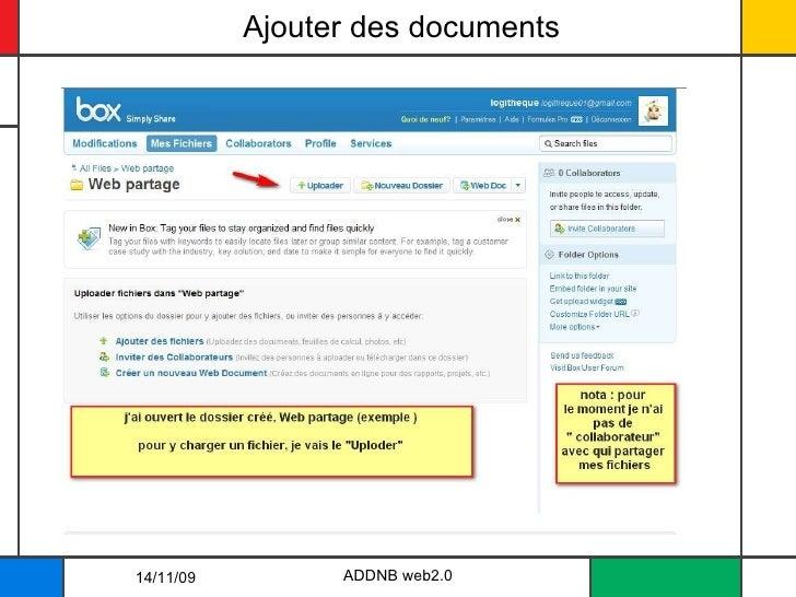 Ajouter des documents ADDNB web2.0 14/11/09
