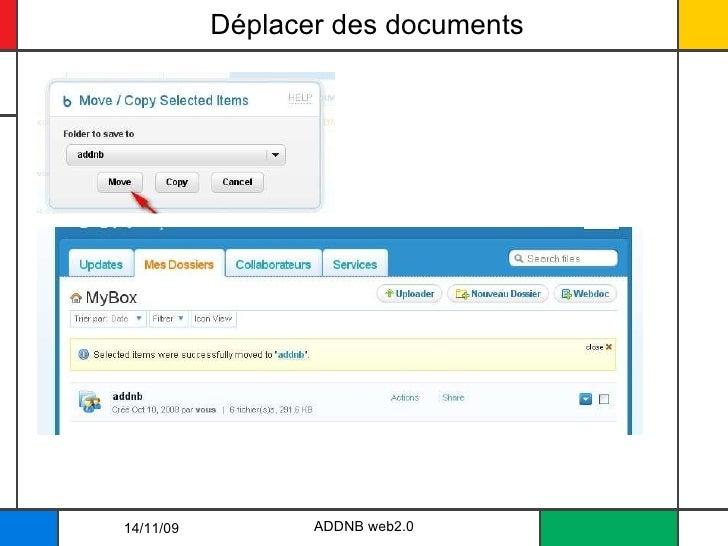 Déplacer des documents 14/11/09 ADDNB web2.0