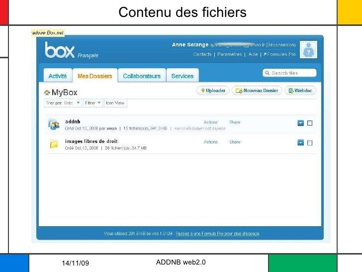 Contenu des fichiers ADDNB web2.0 14/11/09