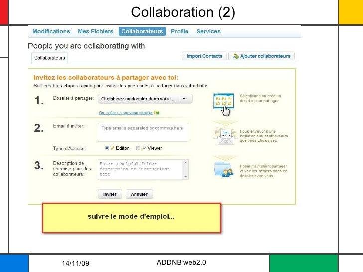 Collaboration (2) ADDNB web2.0 14/11/09