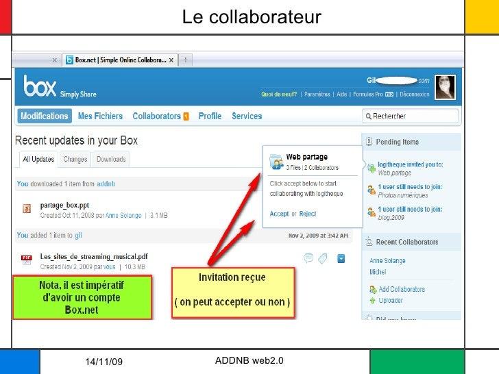 Le collaborateur ADDNB web2.0 14/11/09