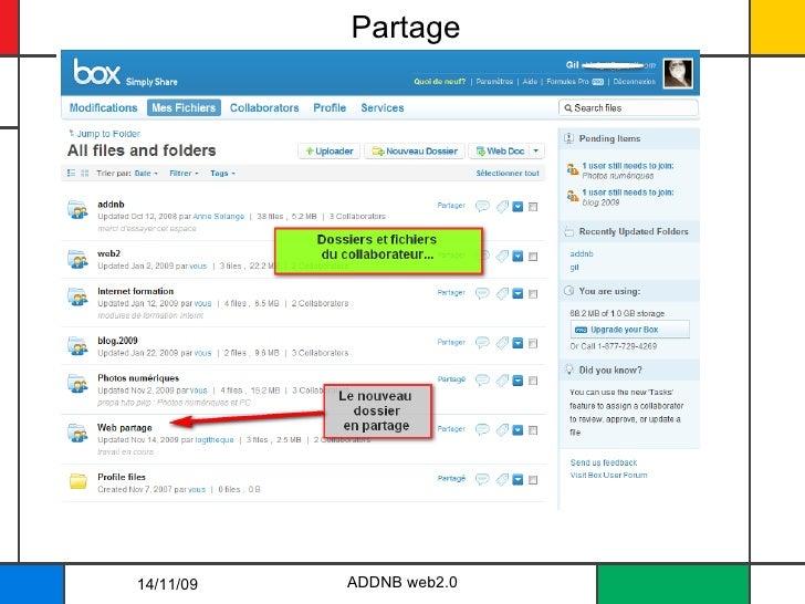 Partage ADDNB web2.0 14/11/09