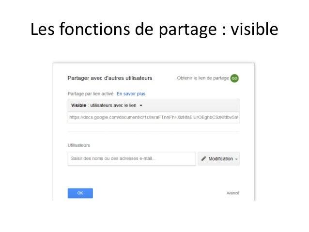 Les fonctions de partage : modifiable